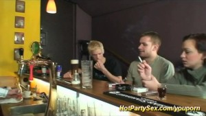 party gangbang at the bar