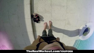 TheRealWorkout - Horny Housewife Fucks The Poolboy!