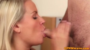 CFNM Emma Leigh and friends giving mean cock tug