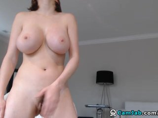Dildo Babe video: Busty Babe Masturbating with her Dildo