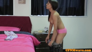 Mean Alyssa Divine humiliating guys dick