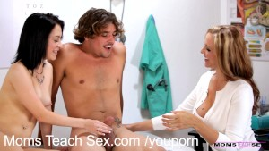 Teen fulfills his older woman fantasy in hot threesome