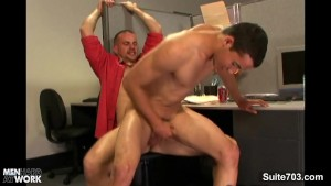 Sweet gays banging in the office at work