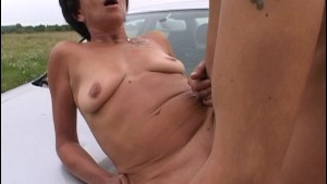 Car Troubled Granny Pays Dues By Getting Fuck