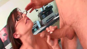 Gorgeous secretary gets nailed hard