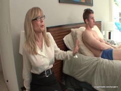 Blonde mom gets naughty with her lover