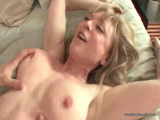 Stockings Tits Blonde video: Awesome MILF rides cock like a pro