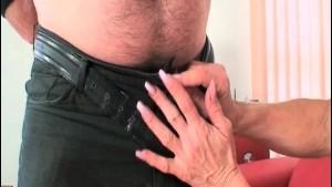 Sexy blonde slut gives nice head