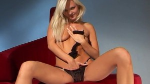Hot blonde plays with nlyons - Java Productions