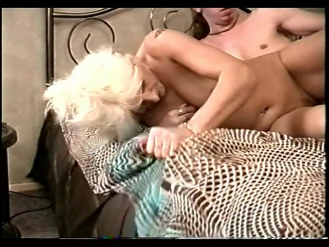 Older blonde fucks young guy -