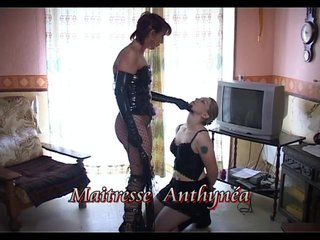 Tattoos Threesome video: Slave and submissive - Java Productions