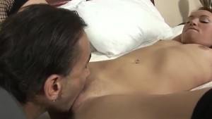 Dark Haired Schoolgirl Gets Licked And Dicked