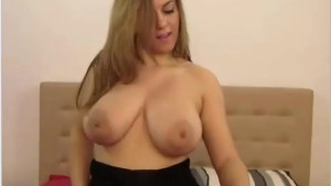 Huge breasts and a beautiful face, a little luv body