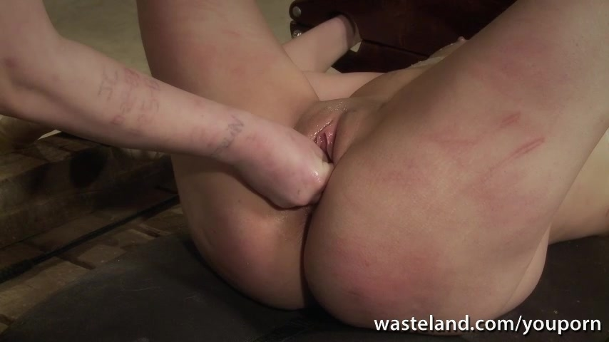 Mistress pushes fingers deep i