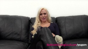 Incredible Big Tit MILF Creampie on Casting Couch