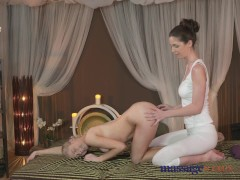 Massage Rooms Young blonde lesbian has deeply intense orgasm