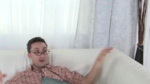 Nerdy guy Fucks BUSTY Lingerie Clad Babe