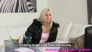 FemaleAgent Beautiful blonde fucked hard with a strap on