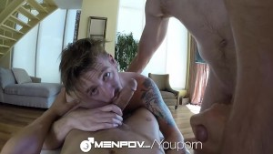 HD MenPOV - Hot threesome in POV
