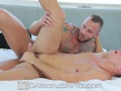 HD GayRoom - Joey Cooper has his cock sucked