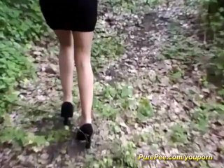 Amateur Fetish video: wild amateur peeing