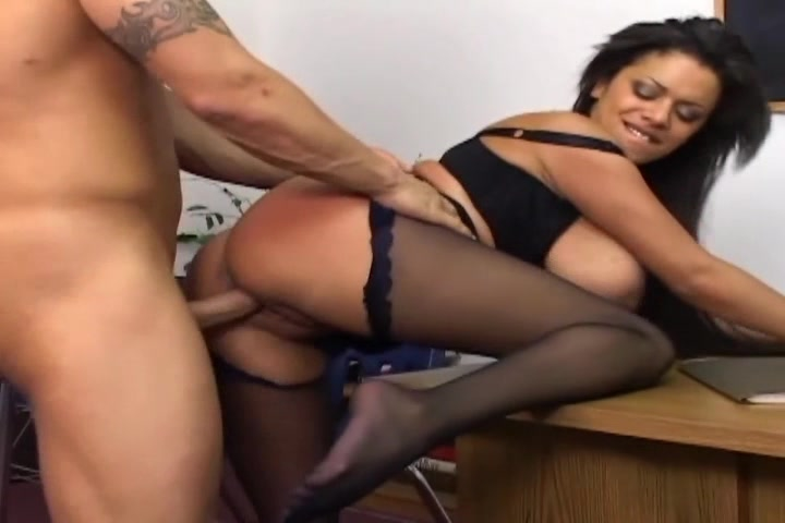 Busty milf has sex in black cr