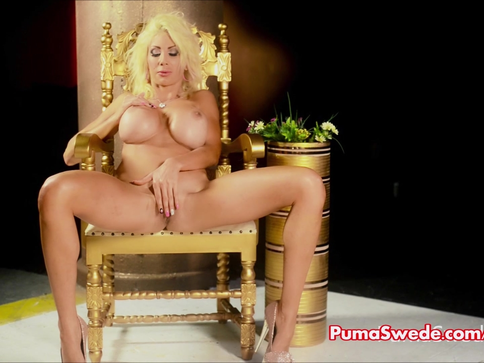 Euro Blonde Puma Swede Gets Of
