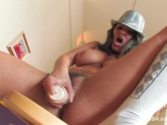 Charley Chase Dildos Herself