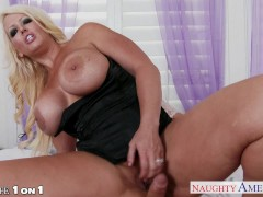 Blonde housewife Alura Jenson fucking