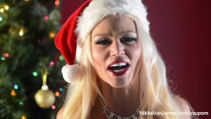 Nikita Von James Christmas Masturbation