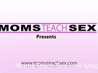 MomsTeachSex - Hot deepthroating threesome