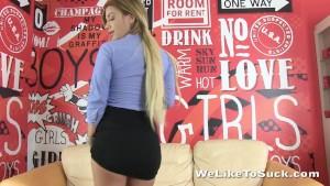 Big titty pornstar gives great blowjob