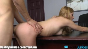 RealityJunkies Lexi Belle Pounded Over Desk