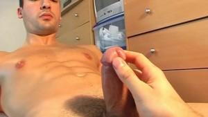 Alexandre: found in gym club, gets wanked for a porn video!