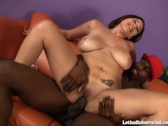 Latin Girl Gets Her First Taste of Black Cock!