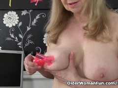 Picture British granny with big tits is a compulsive...