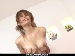 Picture Moe Aizawa screams with a big cock up her wa...