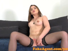 FakeAgent Innocent blonde gets ride of her life in casting