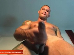 Picture Vitor gets wanked his huge cock by a guy in...