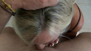 Wifey Swallows The Tree Trimmer's Cum