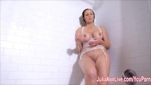 Milf Julia Ann Get Wet in the Shower!