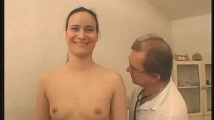 Doctor Inspects Her Female Patient Naked