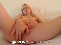 Picture POVD - Blonde Allie Rae gets her pink pussy...
