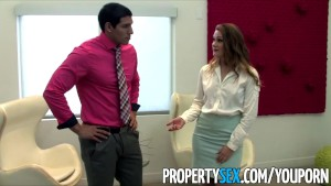 PropertySex - Pornstar real estate agent fucks client at open house