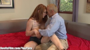 DevilsFilm Redhead Babysitter gets Anal from Daddy