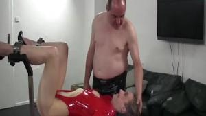 Extreme slut fisted in bondage