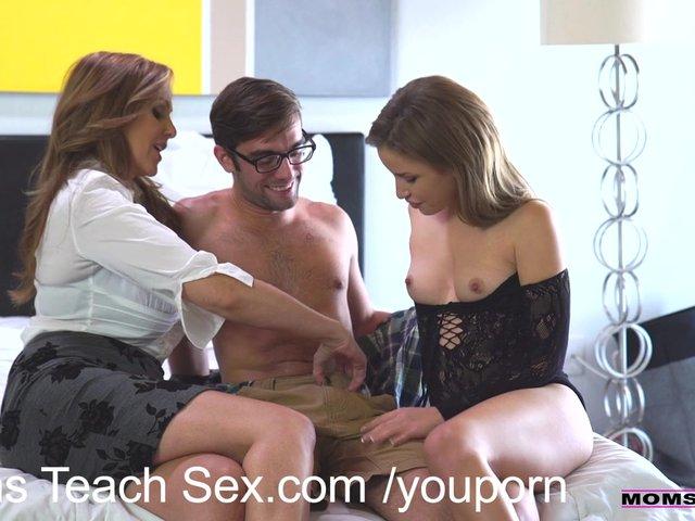 sexy mom teaches son sex tricks