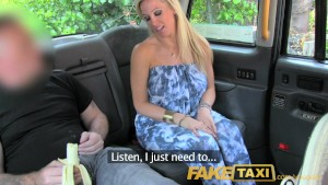 FakeTaxi hard anal fucking and double penetration in taxi cab