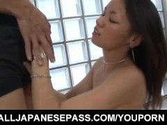 Picture Kaede Matushima gets cock and cum in mouth a...