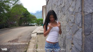 Gorgeous Latina masturbates on camera for the first time
